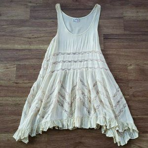 Intimately Free People XS Cream Tunic Night Gown